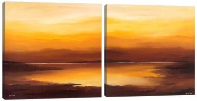 Evening Sky Diptych Canvas Art Print