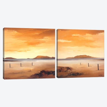 Quiet Sands Diptych Canvas Print Set #HPA2HSET003} by Hans Paus Canvas Art Print