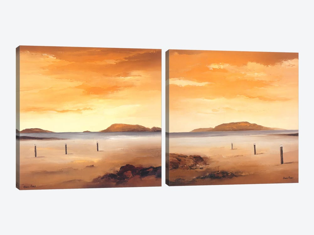 Quiet Sands Diptych by Hans Paus 2-piece Canvas Print