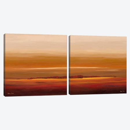 Sundown Diptych Canvas Print Set #HPA2HSET004} by Hans Paus Canvas Art
