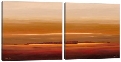 Sundown Diptych Canvas Art Print