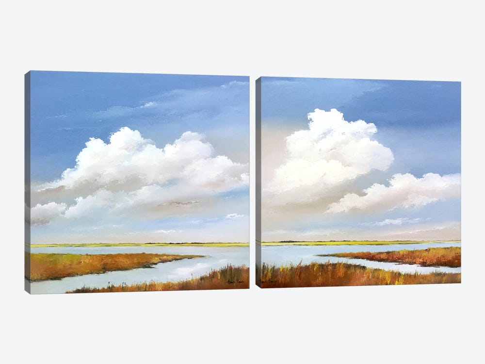 To The Lake Diptych 2-piece Canvas Print