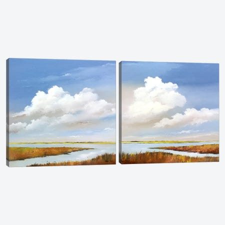 To The Lake Diptych Canvas Print Set #HPA2HSET005} by Hans Paus Canvas Art