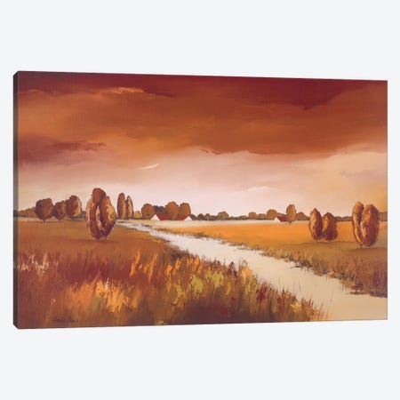 Down The River II Canvas Print #HPA30} by Hans Paus Canvas Art Print
