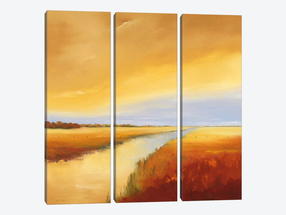 Down The River IV by Hans Paus 3-piece Canvas Artwork