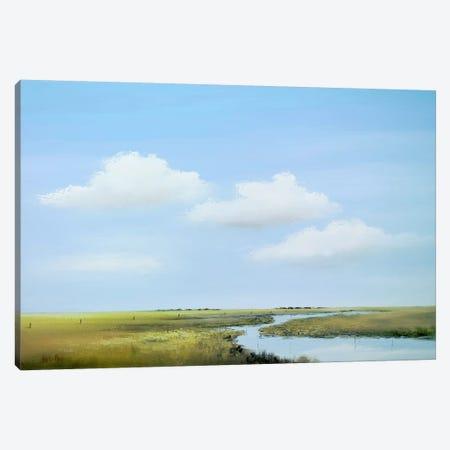 Down The River V Canvas Print #HPA33} by Hans Paus Art Print