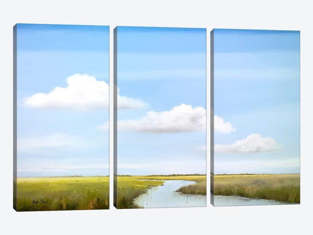 Down The River VI by Hans Paus 3-piece Canvas Artwork