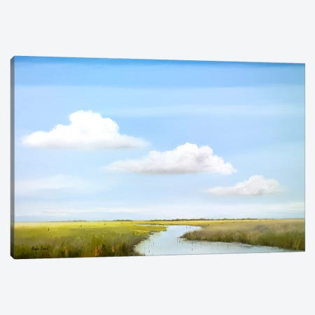 Down The River VI Canvas Print #HPA34} by Hans Paus Canvas Wall Art