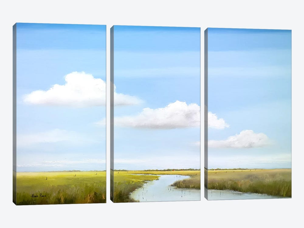 Down The River VI by Hans Paus 3-piece Canvas Artwork