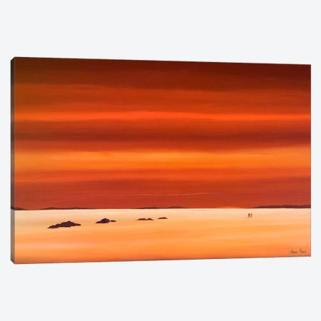 Evening Sky III Canvas Print #HPA39} by Hans Paus Canvas Art Print