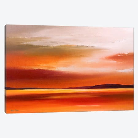 Evening Sky IV Canvas Print #HPA40} by Hans Paus Canvas Art