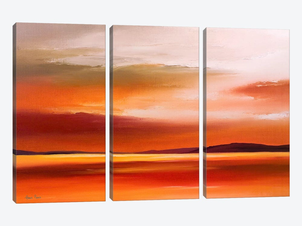 Evening Sky IV by Hans Paus 3-piece Canvas Art Print