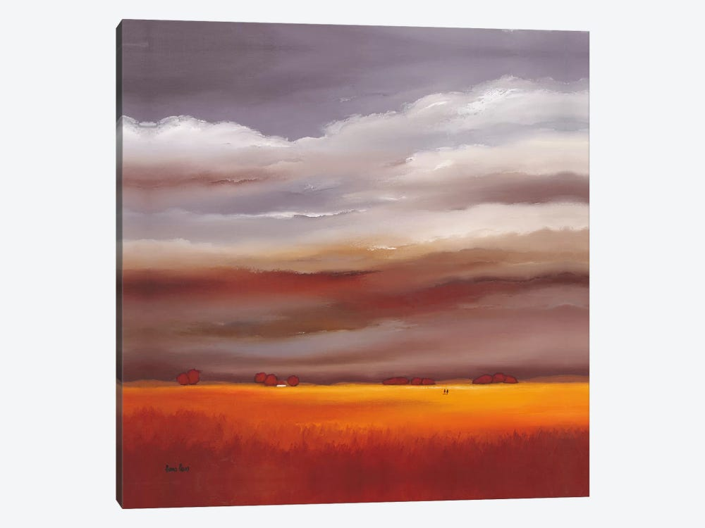 Evening Walk I by Hans Paus 1-piece Canvas Wall Art