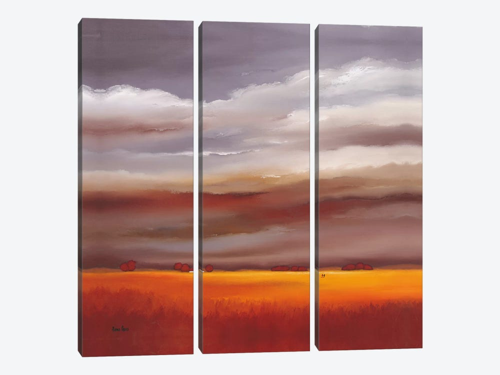 Evening Walk I by Hans Paus 3-piece Canvas Art