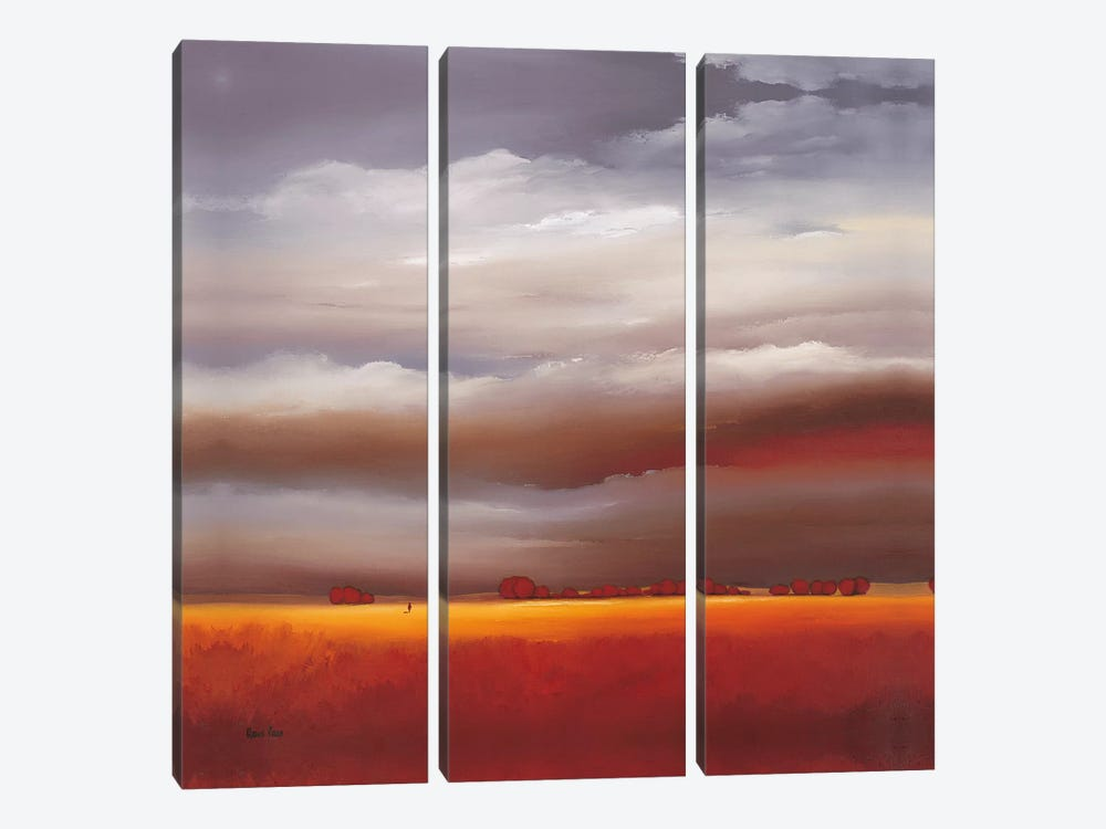Evening Walk II 3-piece Canvas Art Print
