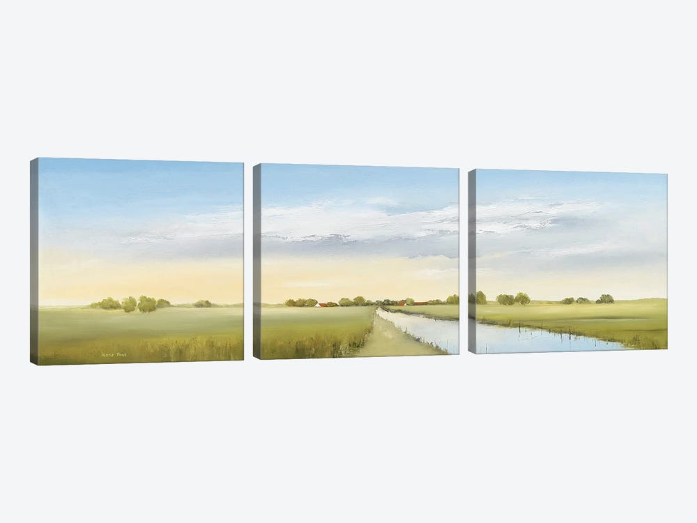 Lowlands I by Hans Paus 3-piece Canvas Print
