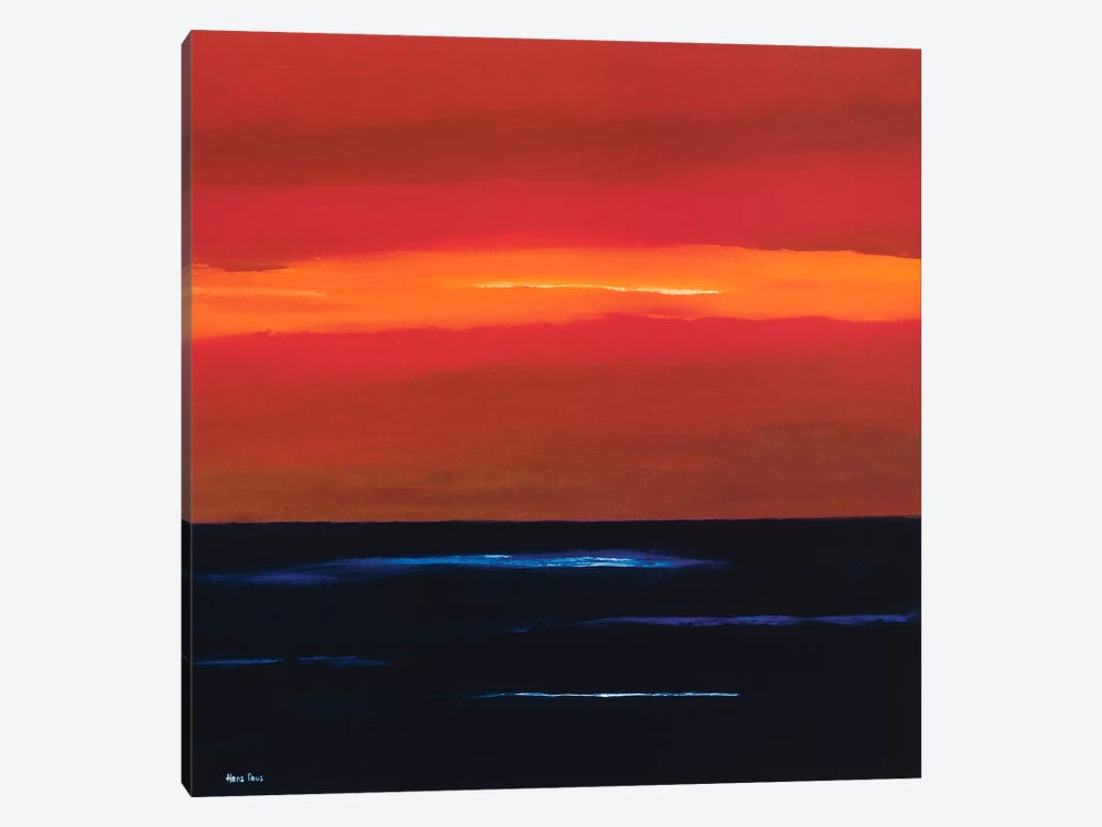 Afterglow II by Hans Paus 1-piece Canvas Wall Art