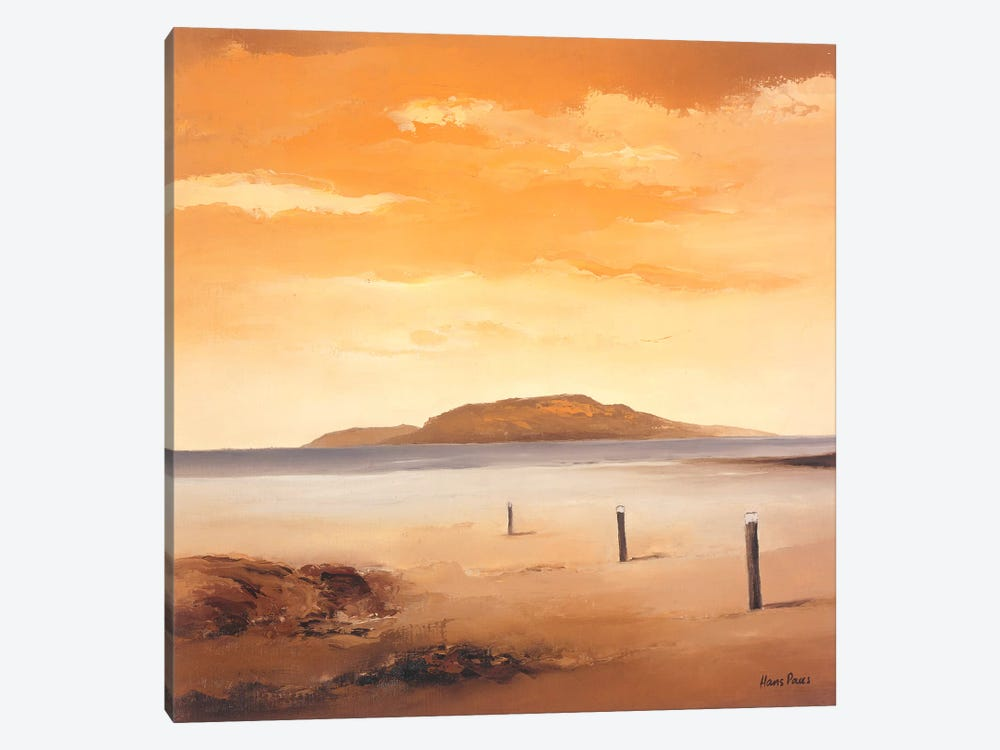 Quiet Sands II by Hans Paus 1-piece Canvas Art