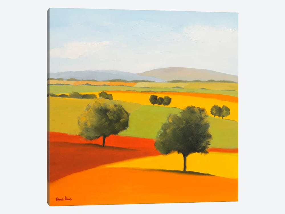 Red Tree by Hans Paus 1-piece Canvas Art Print