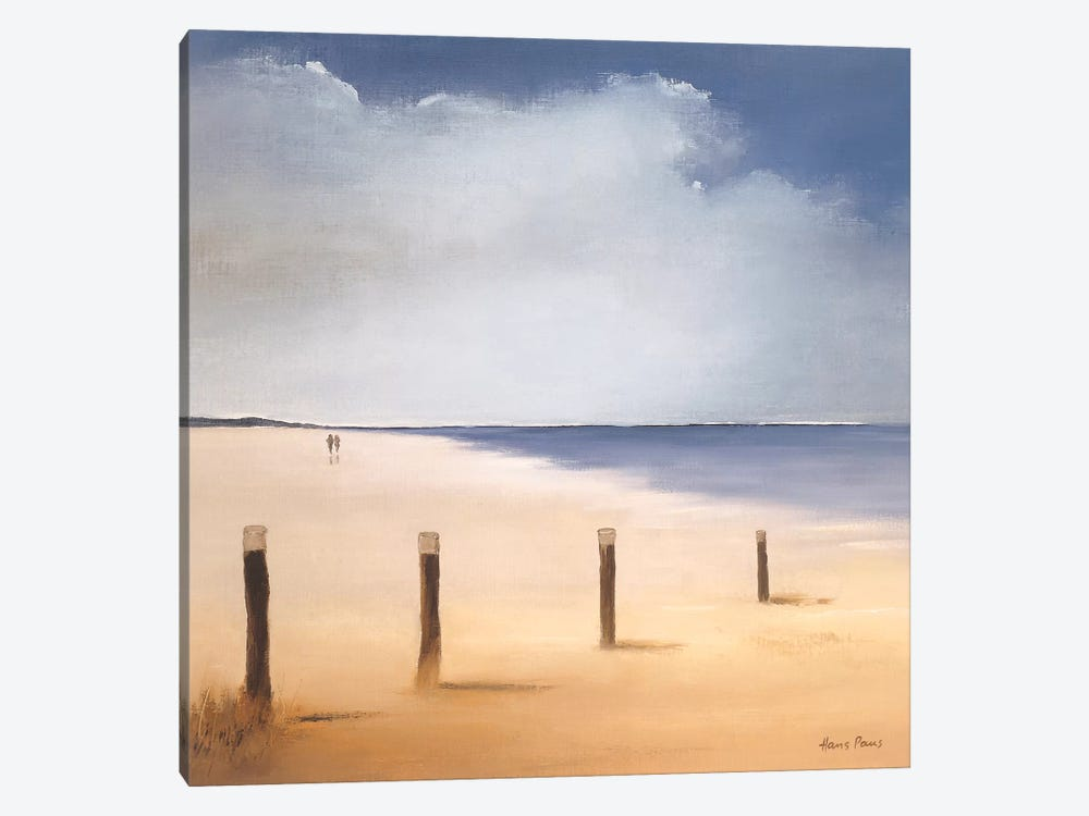 Along The Beach I by Hans Paus 1-piece Canvas Print