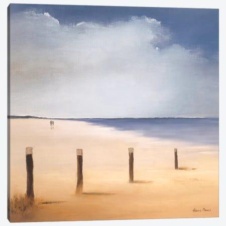 Along The Beach I Canvas Print #HPA7} by Hans Paus Canvas Art