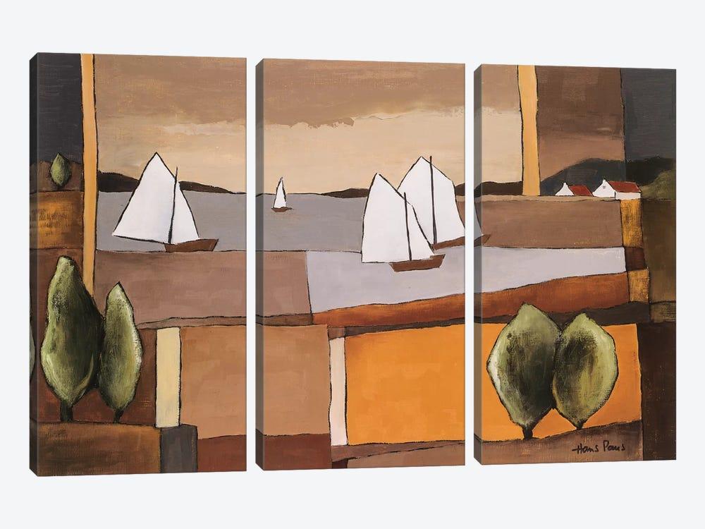 Skyline II by Hans Paus 3-piece Canvas Artwork