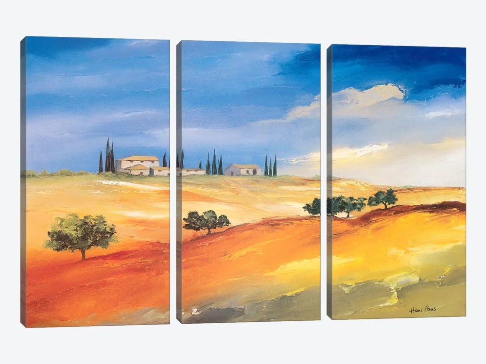 Somewhere In The South I by Hans Paus 3-piece Art Print