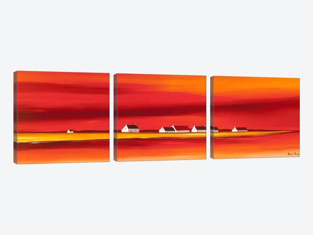 Sundown II by Hans Paus 3-piece Canvas Art