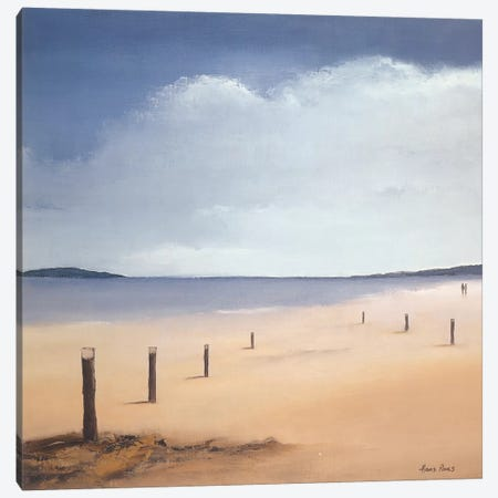 Along The Beach II Canvas Print #HPA8} by Hans Paus Canvas Print