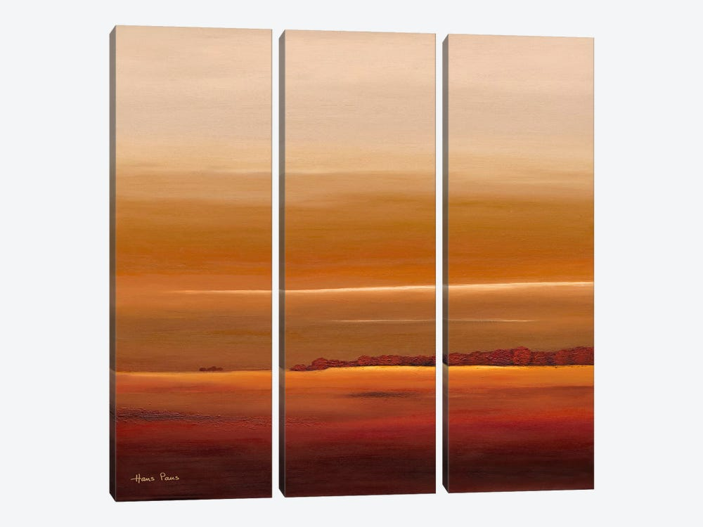 Sundown III by Hans Paus 3-piece Canvas Artwork