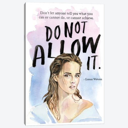 Do Not Allow It Canvas Print #HPE10} by Heather Perry Canvas Print