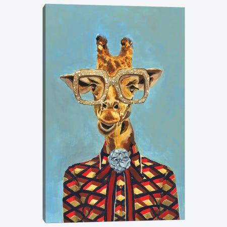 Gucci Giraffe Canvas Print #HPE13} by Heather Perry Canvas Art Print