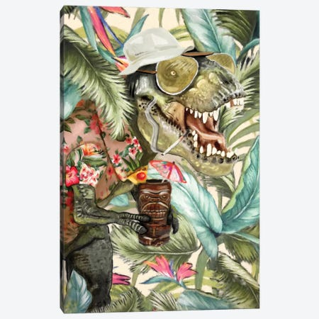 Hunter S. T-Rex Canvas Print #HPE17} by Heather Perry Canvas Art