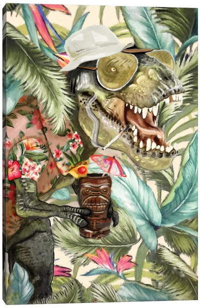 Hunter S. T-Rex Canvas Art Print