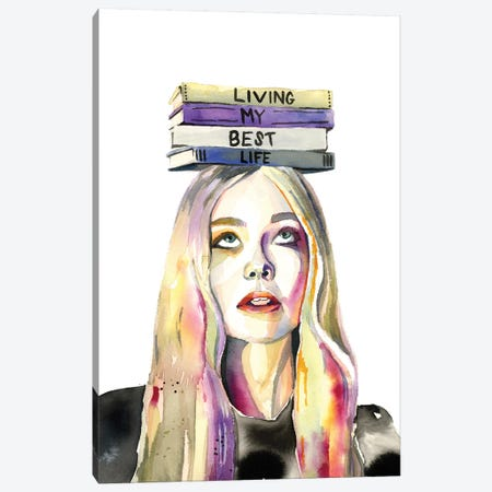 Living My Best Life Canvas Print #HPE23} by Heather Perry Canvas Wall Art