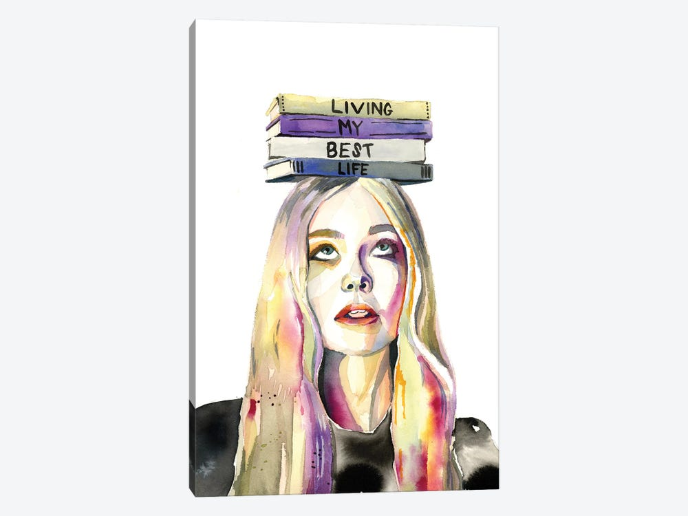 Living My Best Life by Heather Perry 1-piece Canvas Art Print