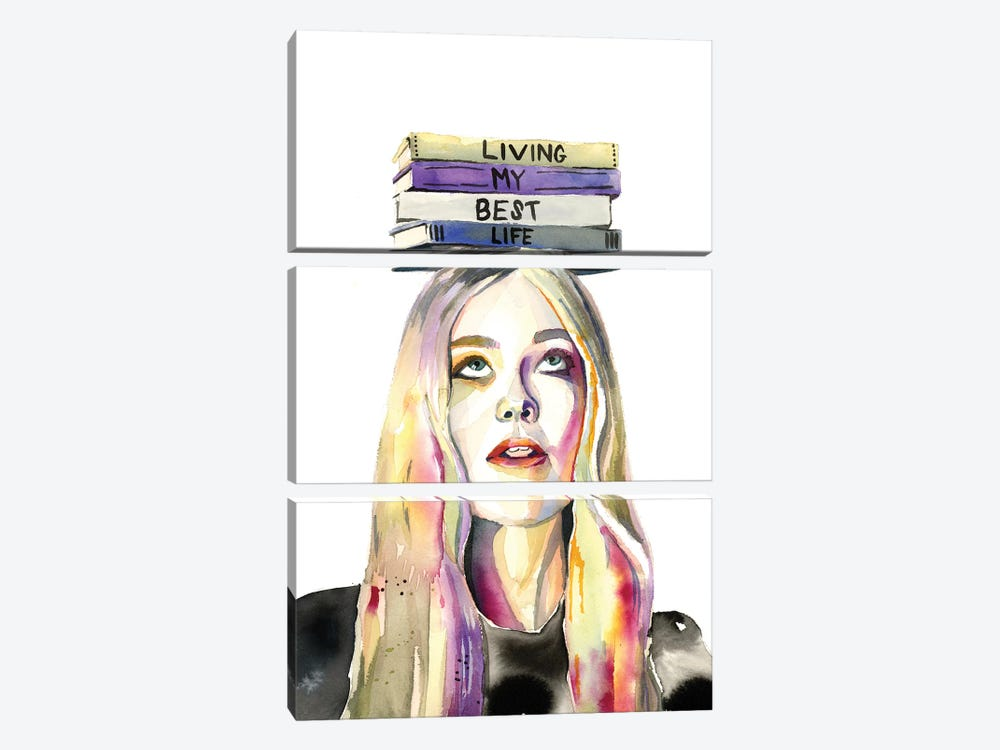 Living My Best Life by Heather Perry 3-piece Canvas Art Print