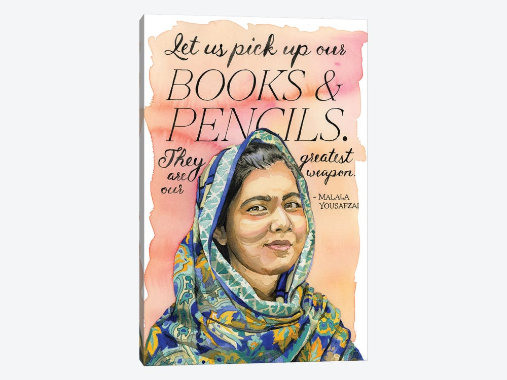 Malala by Heather Perry 1-piece Canvas Artwork
