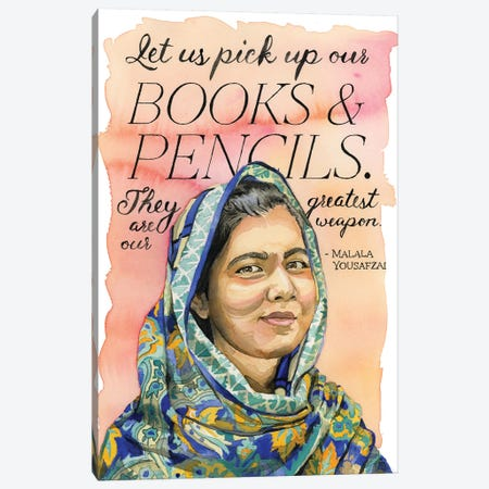 Malala Canvas Print #HPE24} by Heather Perry Canvas Art Print