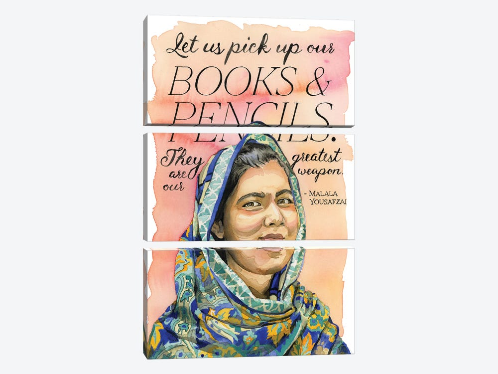 Malala by Heather Perry 3-piece Canvas Artwork