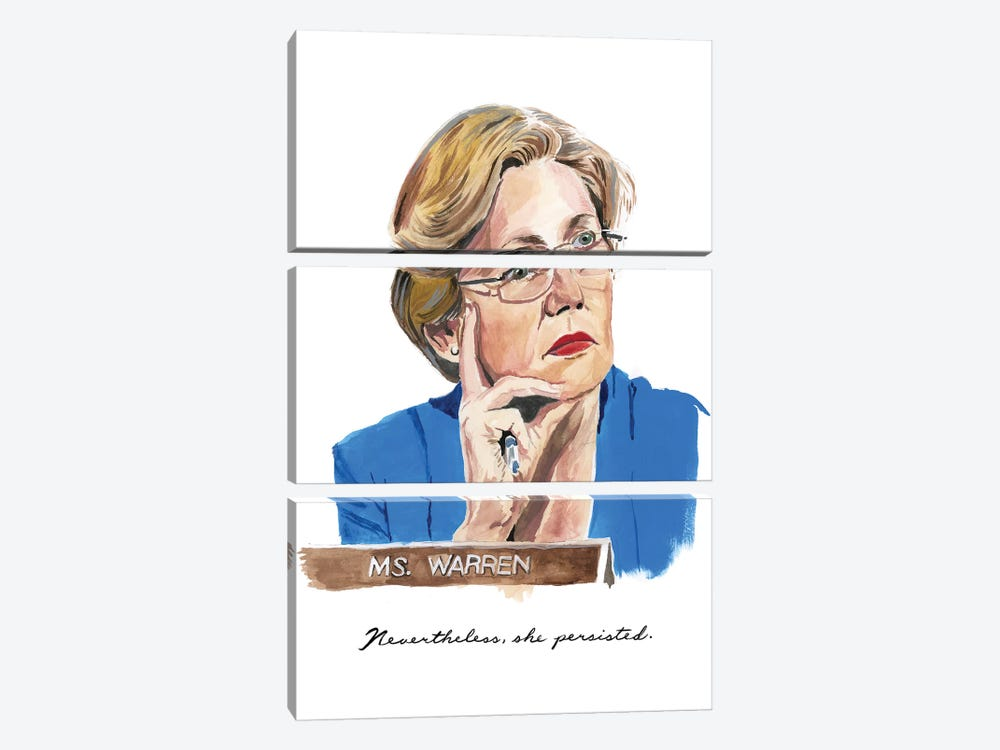 Nevertheless She Persisted by Heather Perry 3-piece Art Print