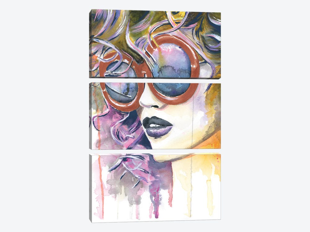 Painted Lady by Heather Perry 3-piece Canvas Print