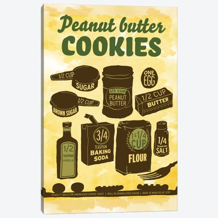Peanut Butter Cookies 3-Piece Canvas #HPE30} by Heather Perry Canvas Art Print