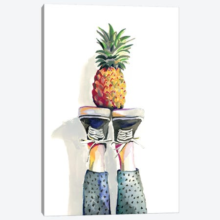 Pineapple Canvas Print #HPE31} by Heather Perry Art Print