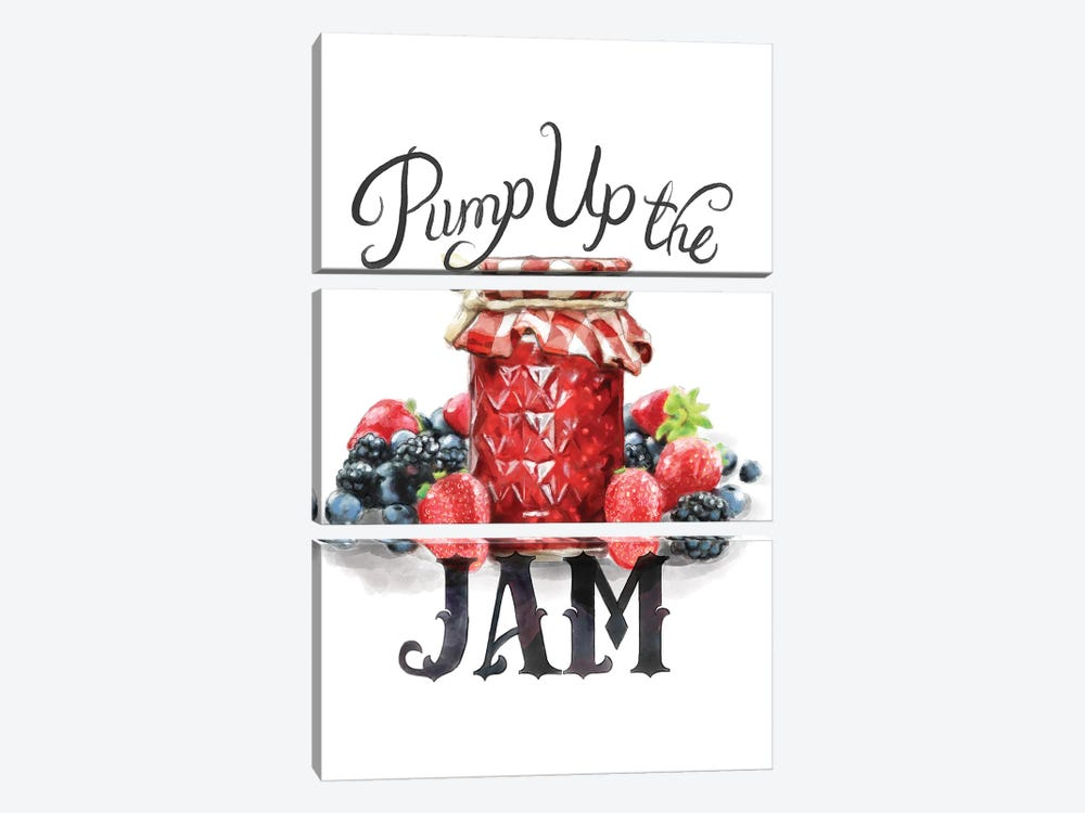 Pump Up The Jam by Heather Perry 3-piece Canvas Print