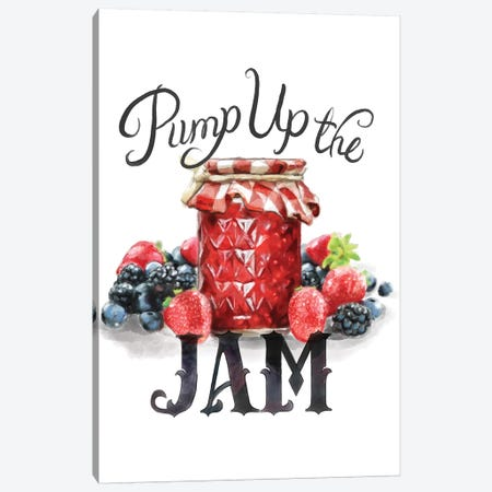 Pump Up The Jam Canvas Print #HPE32} by Heather Perry Canvas Art Print