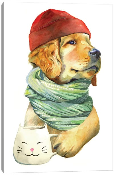Puppaccino Canvas Art Print
