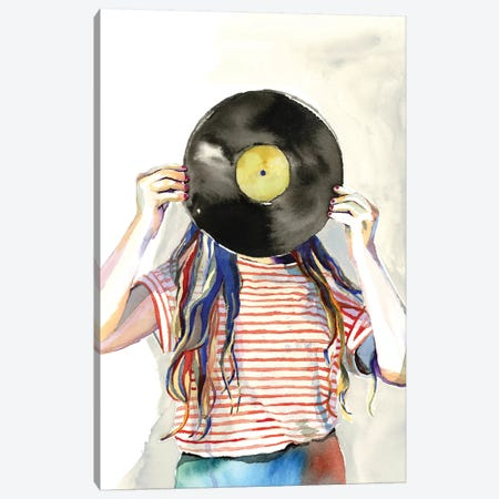 Record Head Canvas Print #HPE34} by Heather Perry Canvas Wall Art