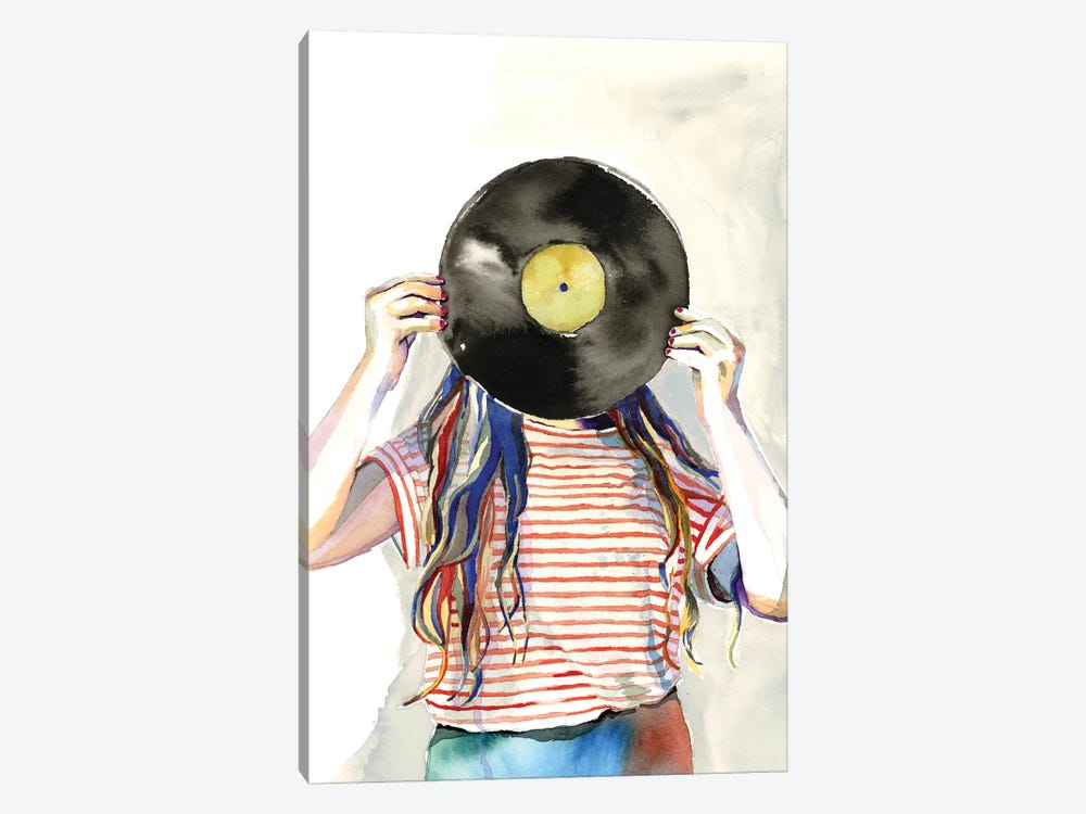 Record Head by Heather Perry 1-piece Canvas Art Print