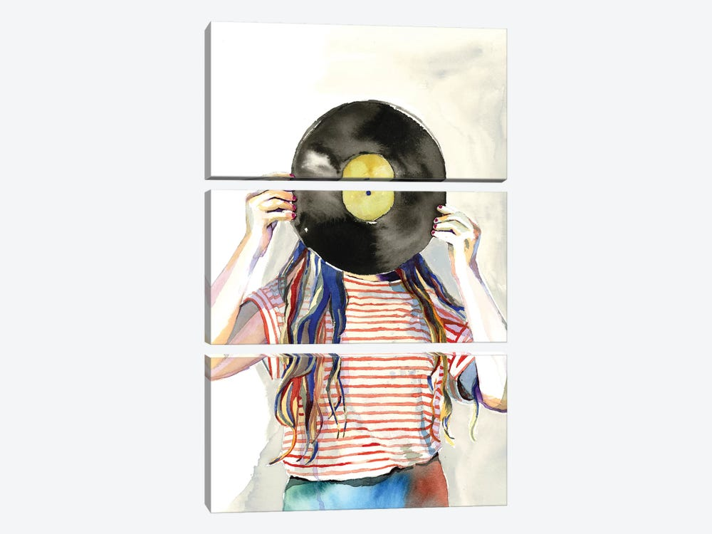 Record Head by Heather Perry 3-piece Art Print